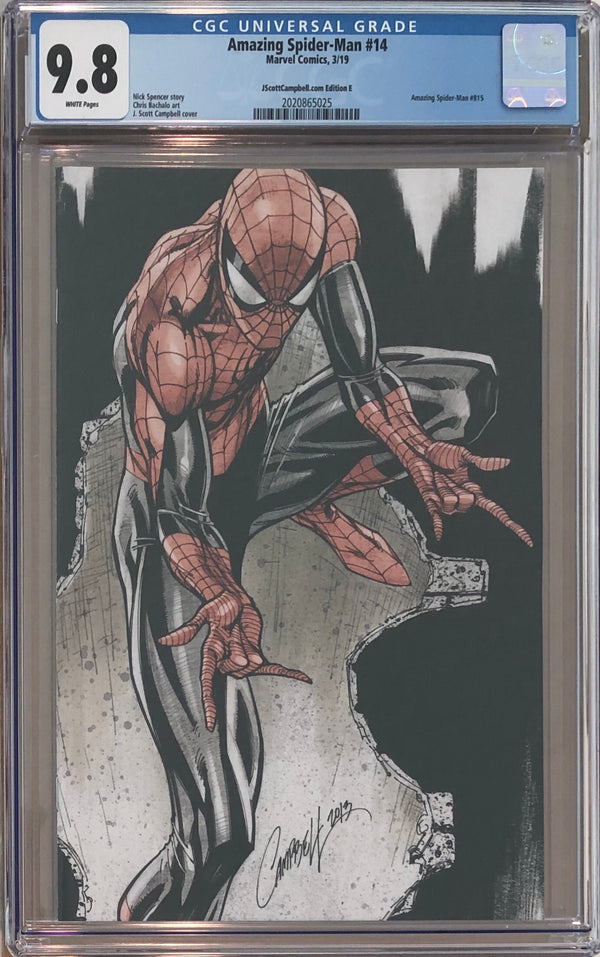 "Amazing Spider-Man #14 J. Scott Campbell Edition E ""Spider-Man"" Virgin Exclusive CGC 9.8"