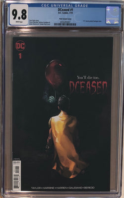 DCeased #1 Putri Horror Movie Poster Variant CGC 9.8