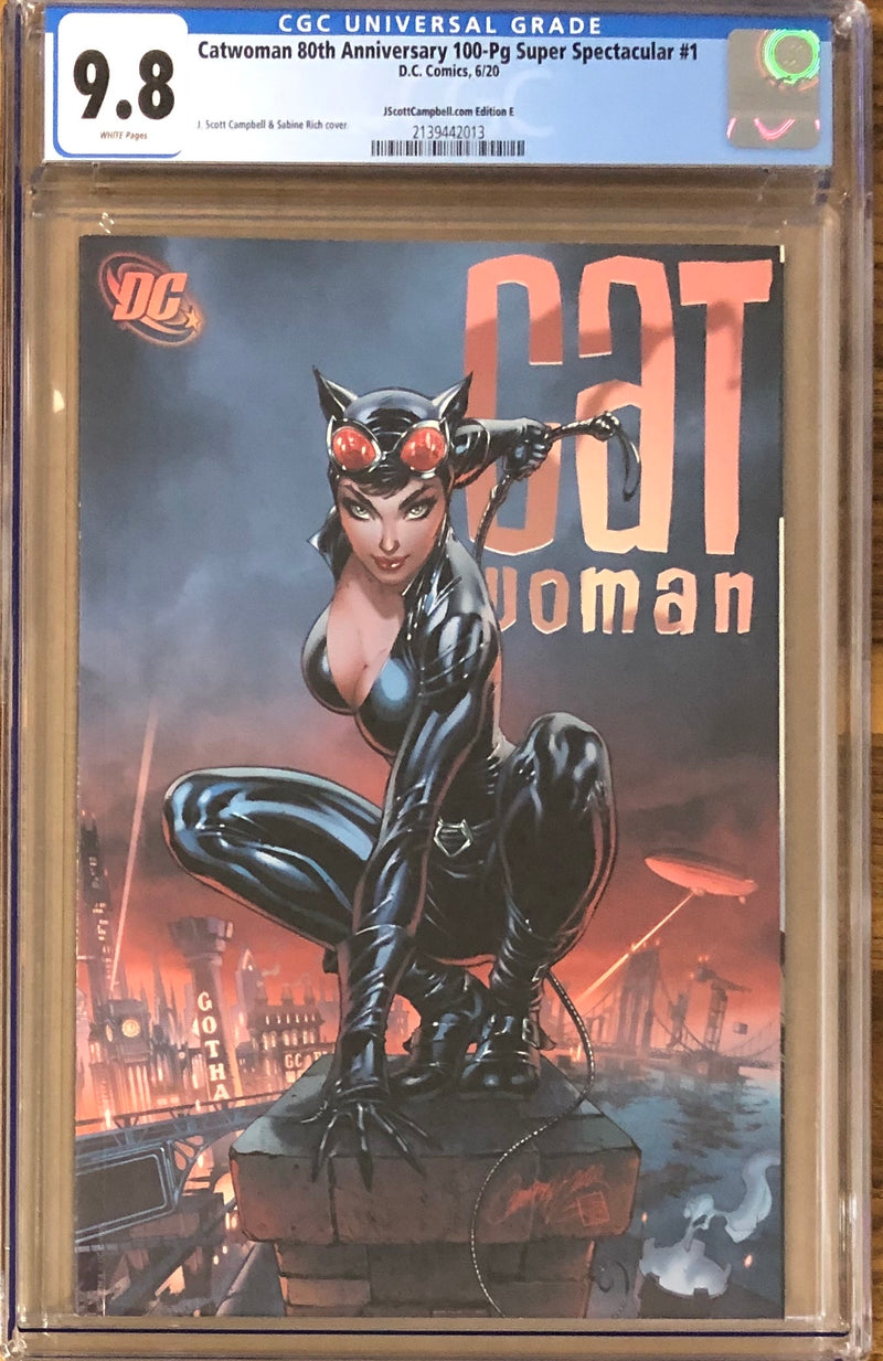 "Catwoman 80th Anniversary 100 Page Super Spectacular #1 J. Scott Campbell Exclusive E ""Darwyn Cooke"" CGC 9.8"