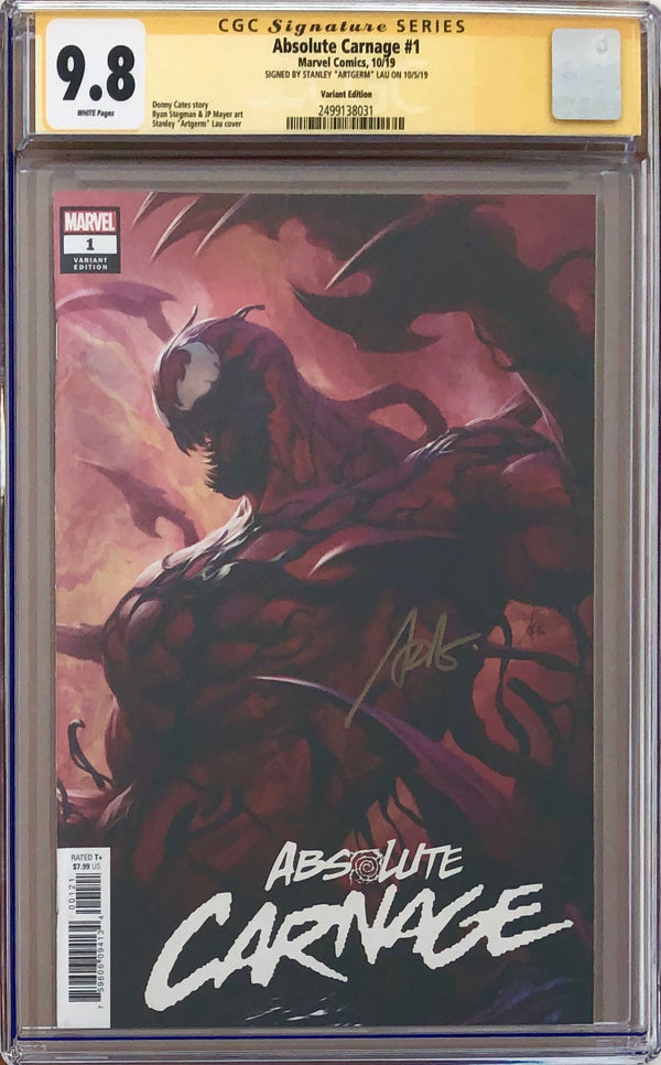 Absolute Carnage #1 Artgerm Variant CGC 9.8 SS