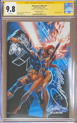 "Uncanny X-Men #1 J. Scott Campbell Edition B ""Jean Grey (Marvel Girl)/Cyclops"" Exclusive CGC 9.8 SS"