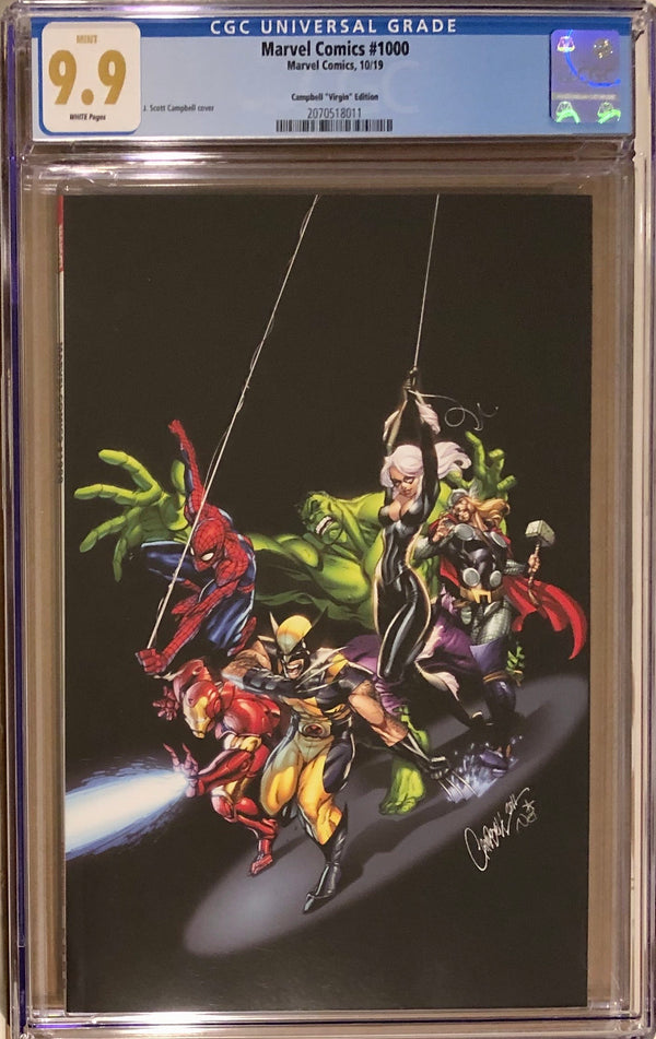 Marvel Comics #1000 J. Scott Campbell 1:200 Virgin Variant CGC 9.9