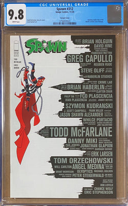 "Spawn #312 CGC 9.8  ""Amazing Spider-Man #300"" Homage Variant"