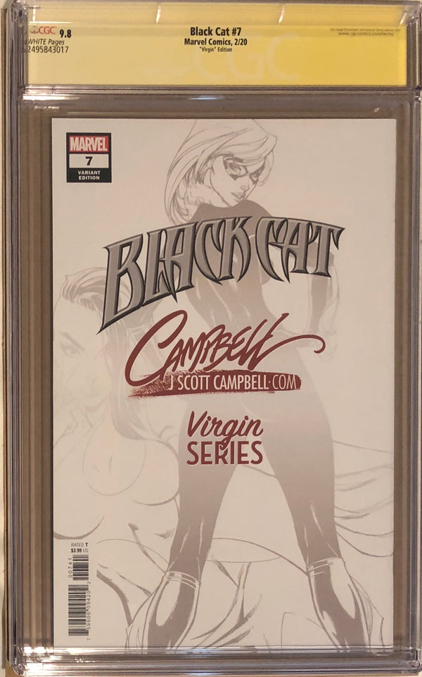 "Black Cat #7 J. Scott Campbell ""Virgin Series"" Exclusive CGC 9.8 SS"