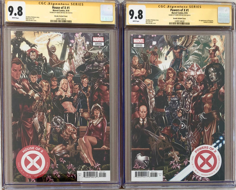 House of X #1 & Powers of X #1 Brooks Connecting Variant Set CGC 9.8 SS