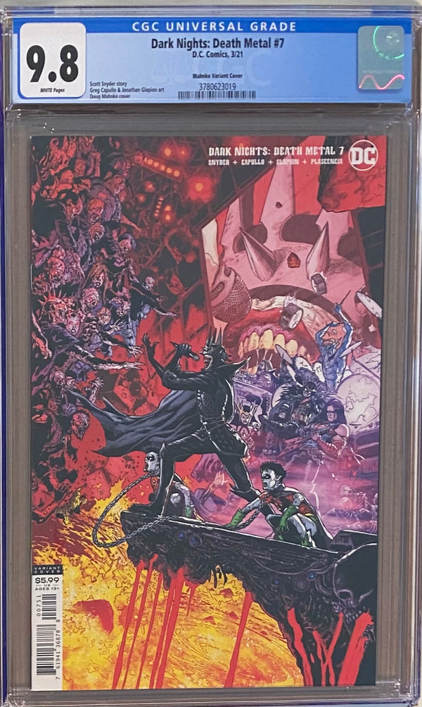 Dark Nights Death Metal #7 Mahnke Retailer Incentive Variant CGC 9.8