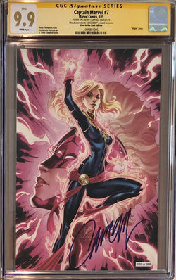 Captain Marvel #7 J. Scott Campbell SDCC Glow in the Dark Exclusive CGC 9.9 SS
