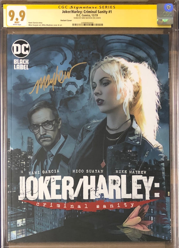 Joker/Harley: Criminal Sanity #1 Mayhew Variant Cover DC Black Label CGC 9.9 SS