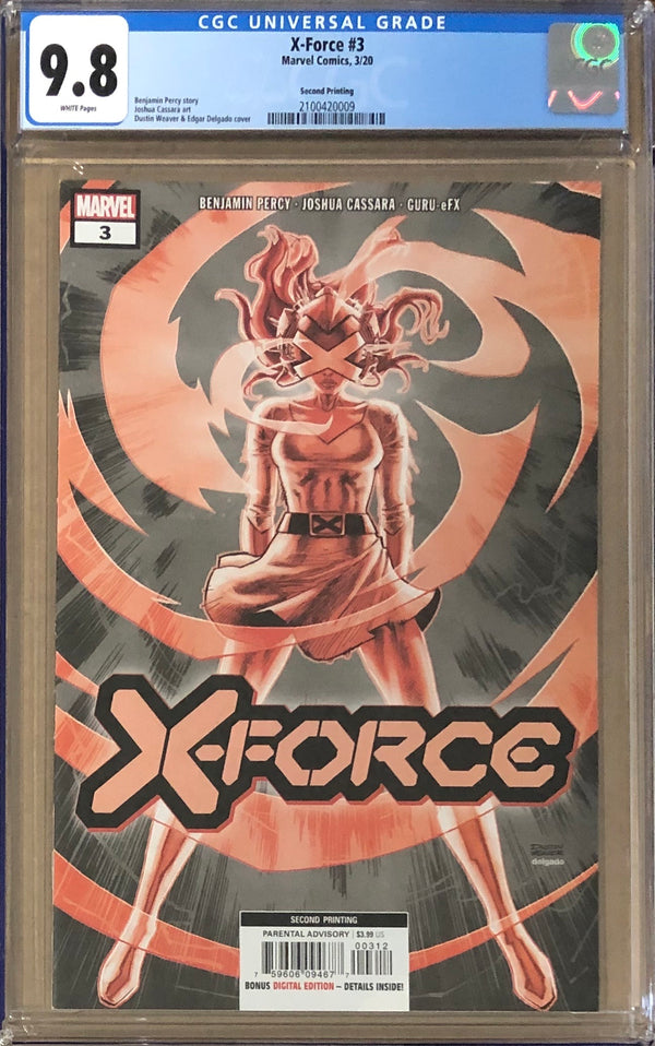 X-Force #3 Second Printing CGC 9.8 - Dawn of X!