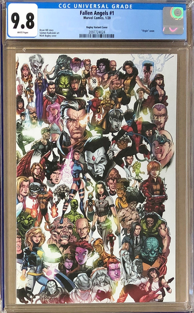 "Fallen Angels #1 Bagley ""Every X-Men Ever"" Connecting Variant CGC 9.8 - Dawn of X!"