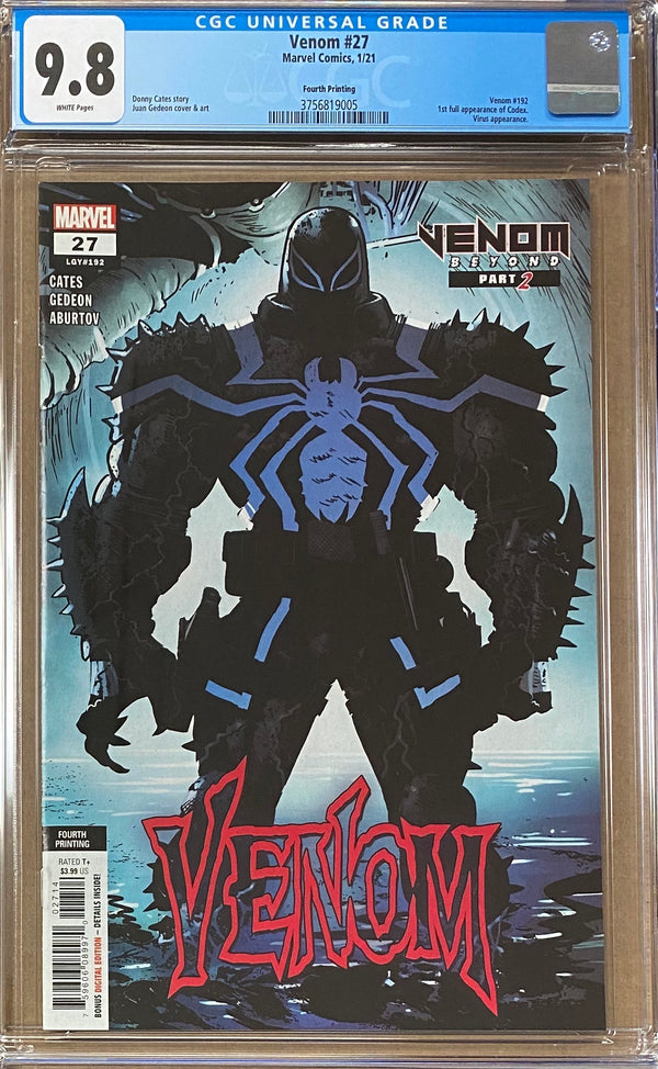 Venom #27 Fourth Printing CGC 9.8