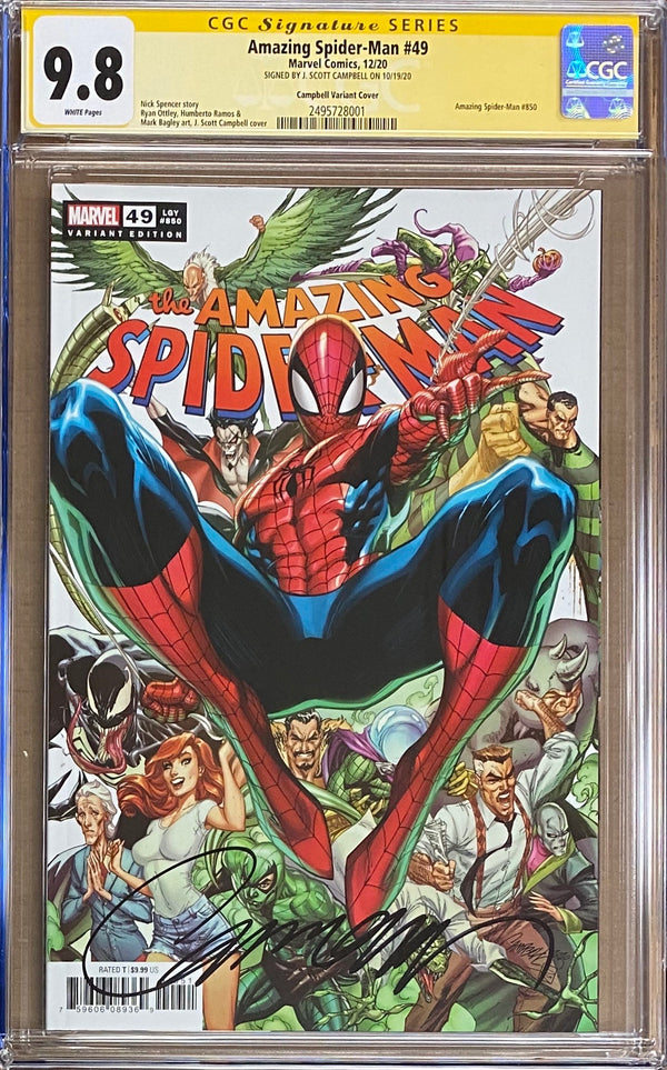 Amazing Spider-Man #850 (#49) Campbell Variant CGC 9.8 SS