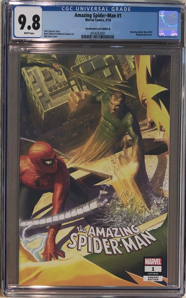Amazing Spider-Man #1 Alex Ross Wraparound Variant B CGC 9.8