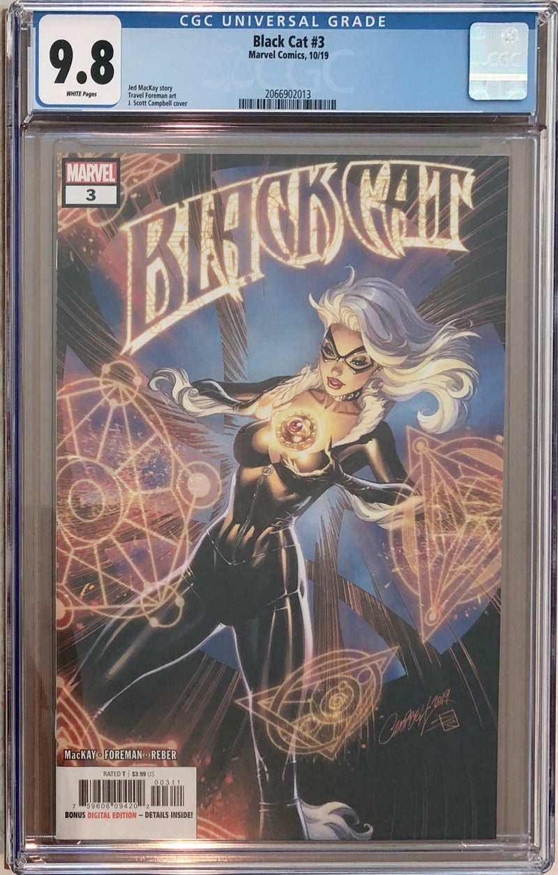 Black Cat #3 J. Scott Campbell CGC 9.8