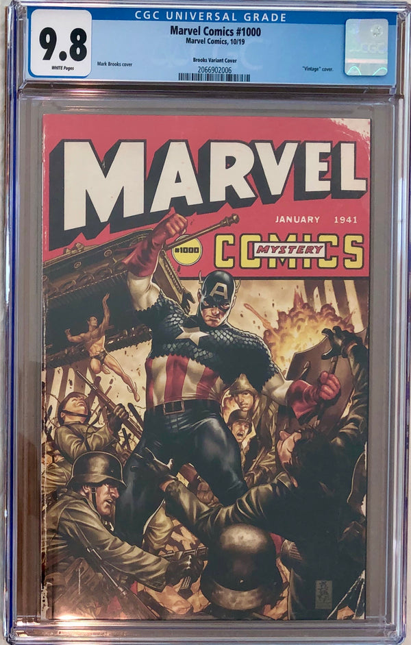 Marvel Comics #1000 Brooks 40s Variant CGC 9.8