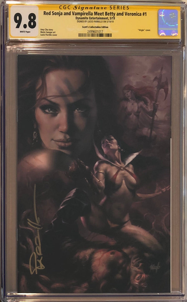 Red Sonja And Vampirella Meet Betty And Veronica #1 Parrillo Convention Exclusive CGC 9.8 SS