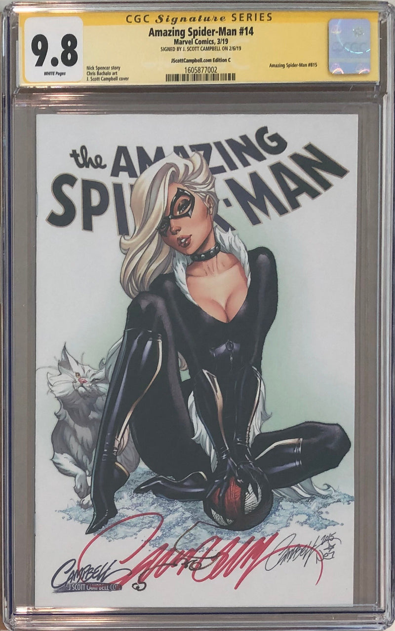 Amazing Spider-Man #14 J. Scott Campbell Edition A-D Exclusives CGC 9.8 SS Set
