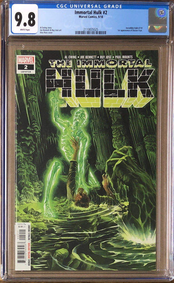 Immortal Hulk #2 CGC 9.8 - First appearance of Doctor Frye