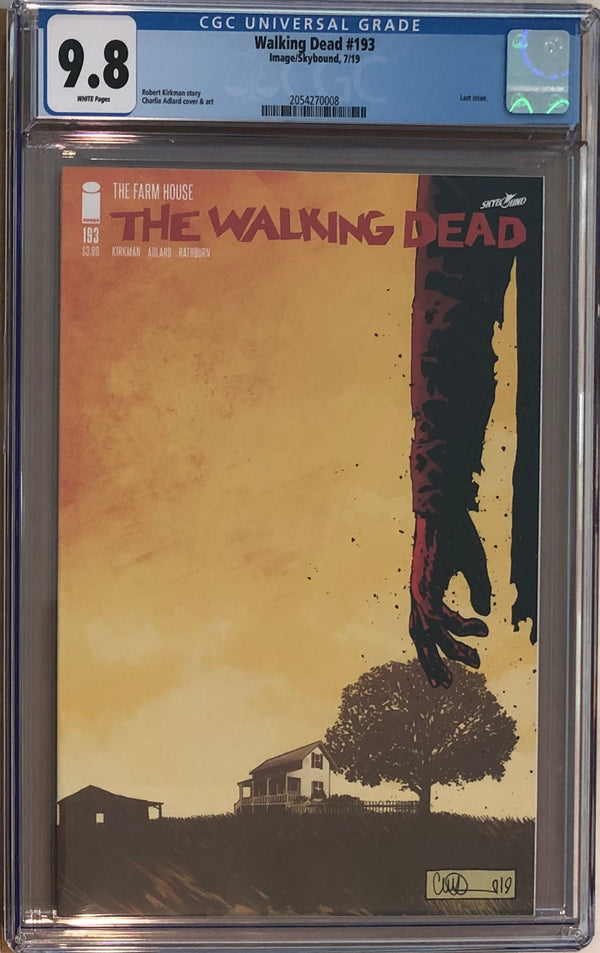 The Walking Dead #193 CGC 9.8 -Final Issue!