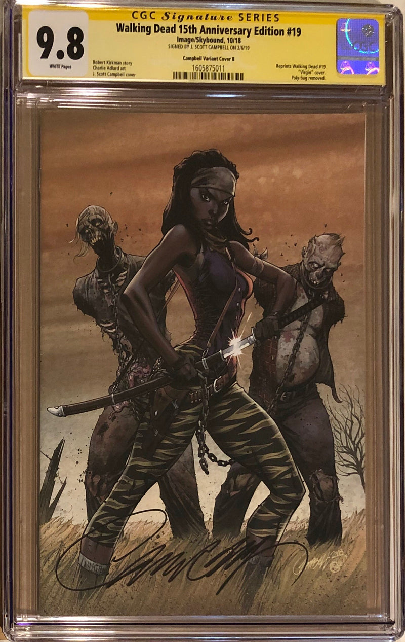 The Walking Dead #19 15th Anniversary Edition J. Scott Campbell Virgin Cover CGC 9.8 SS