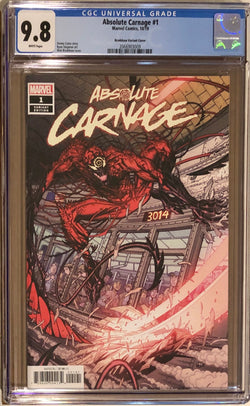 Absolute Carnage #1 Bradshaw 1:50 Retailer Incentive Variant CGC 9.8