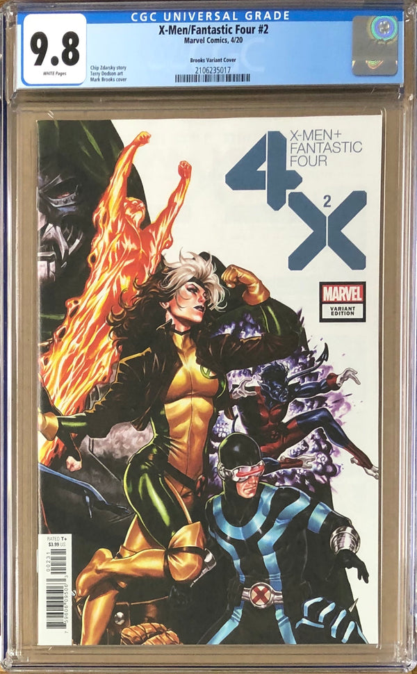 X-Men Fantastic Four #2 Brooks Connecting Variant CGC 9.8