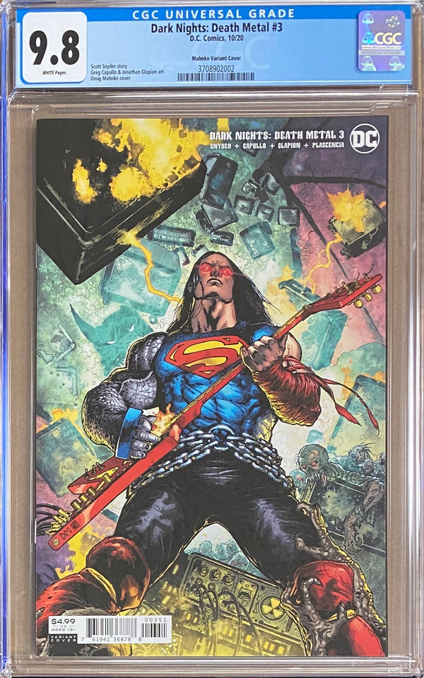Dark Nights Death Metal #3 Mahnke 1:25 Retailer Incentive Variant CGC 9.8