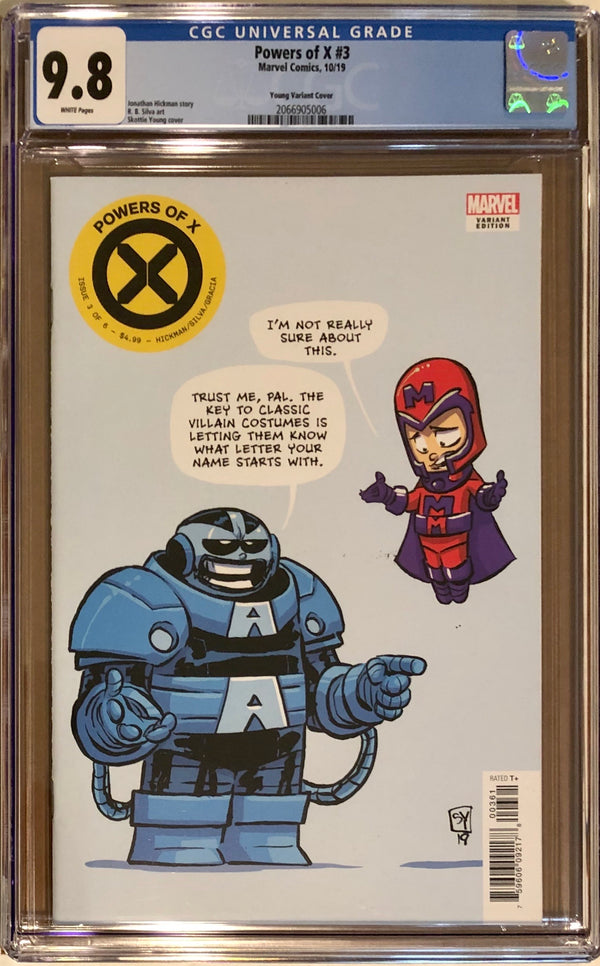Powers of X #3 Skottie Young Variant CGC 9.8