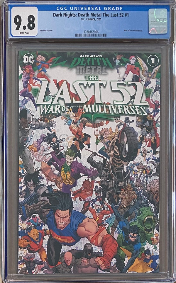 Dark Nights Death Metal: The Last 52 - War of the Multiverses #1 CGC 9.8