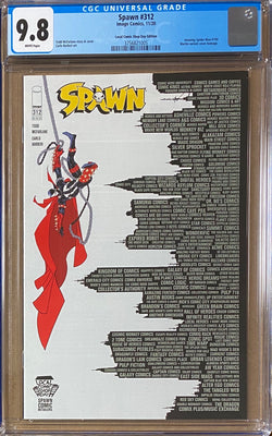 "Spawn #312 CGC 9.8  Local Comic Book Day ""Amazing Spider-Man #300"" Homage Variant"