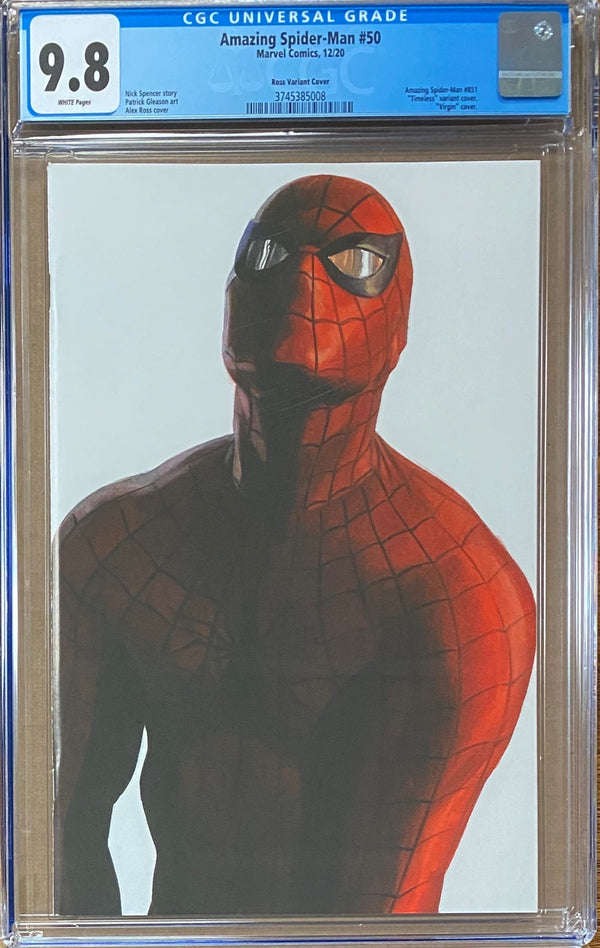 "Amazing Spider-Man #50 Alex Ross Spider-Man ""Timeless"" Variant CGC 9.8"