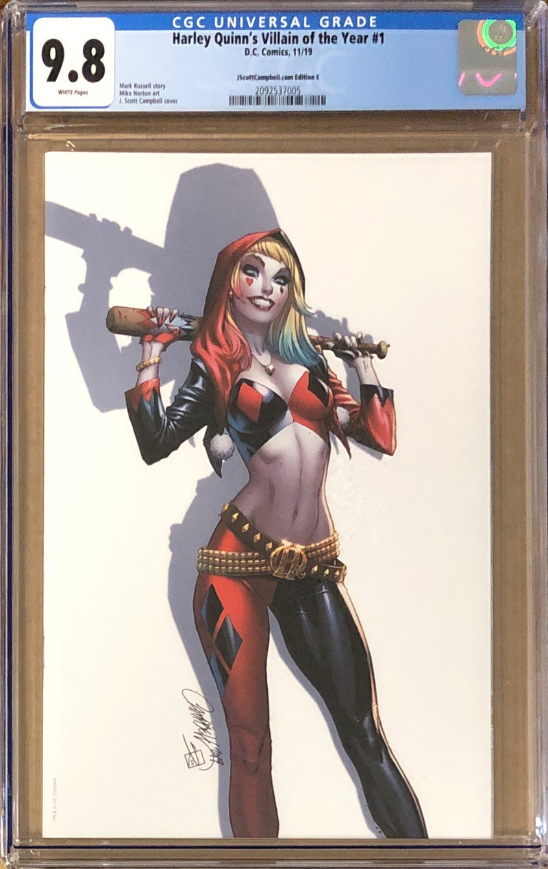 Harley Quinn's Villain of the Year #1 J. Scott Campbell Virgin Exclusive E CGC 9.8