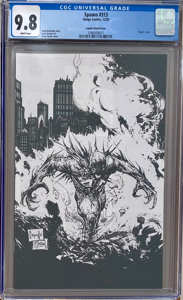 Spawn #313 Capullo Sketch Variant CGC 9.8