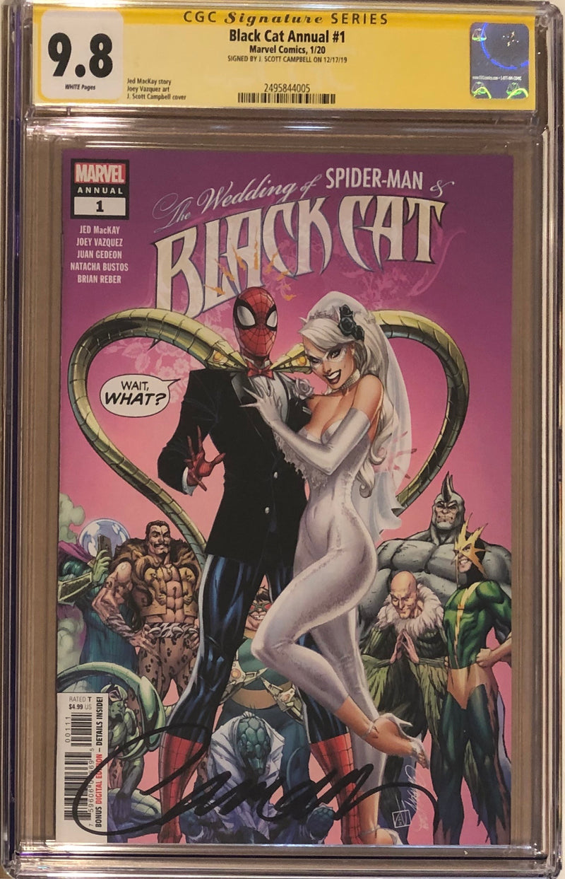 Black Cat Annual #1 J. Scott Campbell CGC 9.8 SS