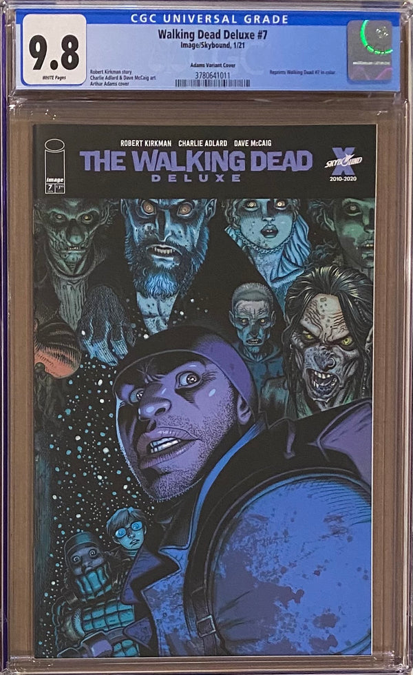 Walking Dead Deluxe #7 Adams Variant CGC 9.8