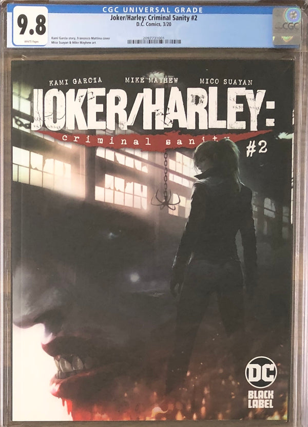 Joker/Harley: Criminal Sanity #2 Mattina Cover DC Black Label CGC 9.8