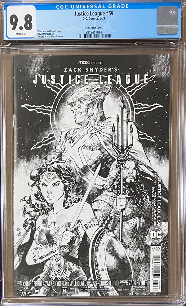 "Justice League #59 Jim Lee ""Snyder Cut"" 1:100 Retailer Incentive Variant CGC 9.8"