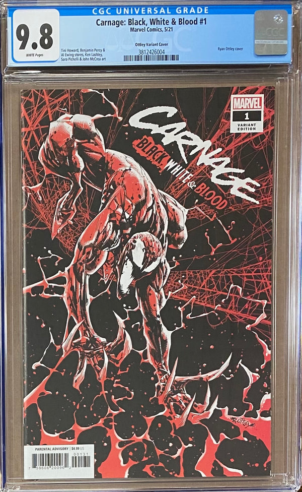 Carnage: Black, White, and Blood #1 Ottley Variant CGC 9.8