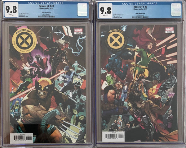 House of X #3 & Powers of X #3 Asrar Connecting Variant Set CGC 9.8
