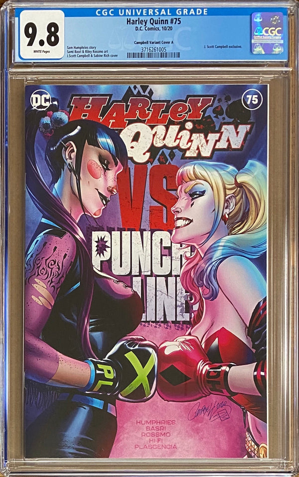 "Harley Quinn #75 J. Scott Campbell Exclusive A - ""Boxing"" CGC 9.8"