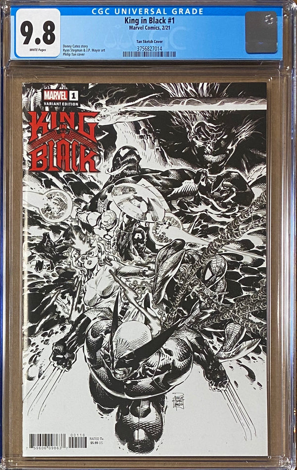 King in Black #1 Tan Launch Sketch Retailer Incentive Variant CGC 9.8