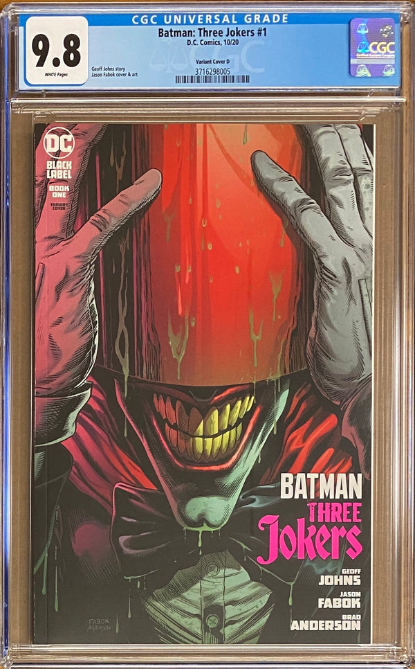 "Batman: Three Jokers #1 ""Red Hood"" Premium Variant DC Black Label CGC 9.8"