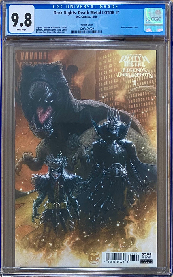 Dark Nights Death Metal: Legends of the Dark Knights #1 1:25 Andrews Variant CGC 9.8
