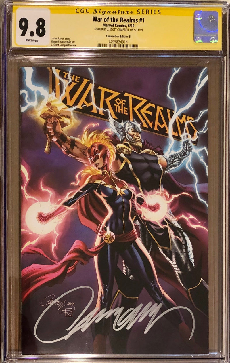 War of the Realms #1 VIP Package J. Scott Campbell Exclusive B CGC 9.8 SS