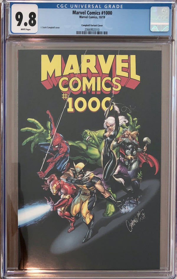 Marvel Comics #1000 J. Scott Campbell Variant CGC 9.8