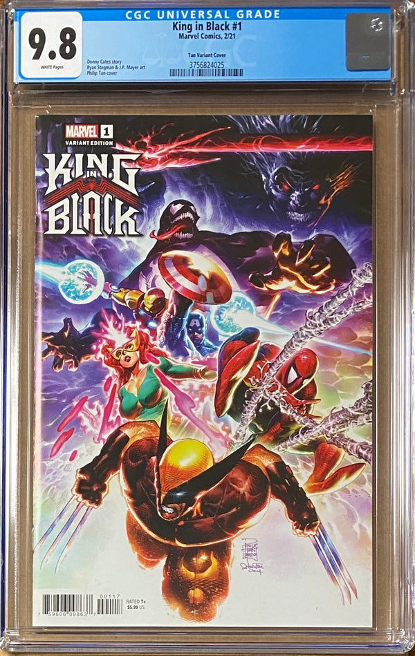 King in Black #1 Tan Launch Variant CGC 9.8