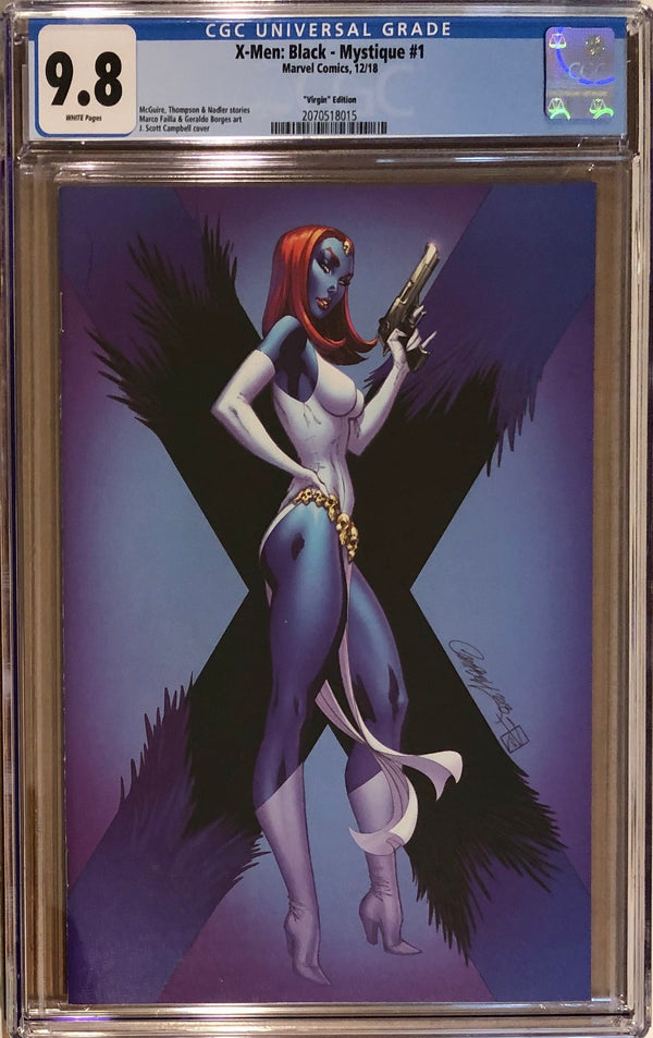 X-Men: Black - Mystique #1 J. Scott Campbell 1:100 Virgin Retailer Incentive CGC 9.8