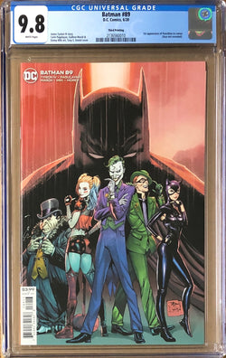 Batman #89 Third Printing CGC 9.8 1st Appearance of Punchline in Cameo