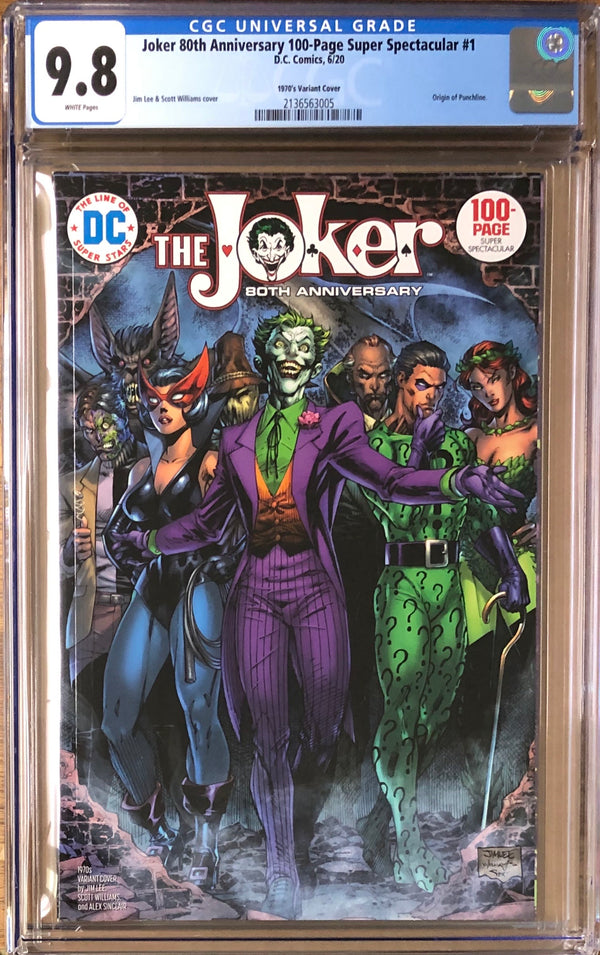 Joker 80th Anniversary 100 Page Super Spectacular #1 Jim Lee 1970s Variant CGC 9.8