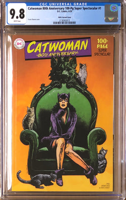 Catwoman 80th Anniversary 100 Page Super Spectacular #1 Charest 1950s Variant CGC 9.8